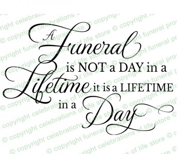 Inspirational Quotes For Funeral Programs. QuotesGram