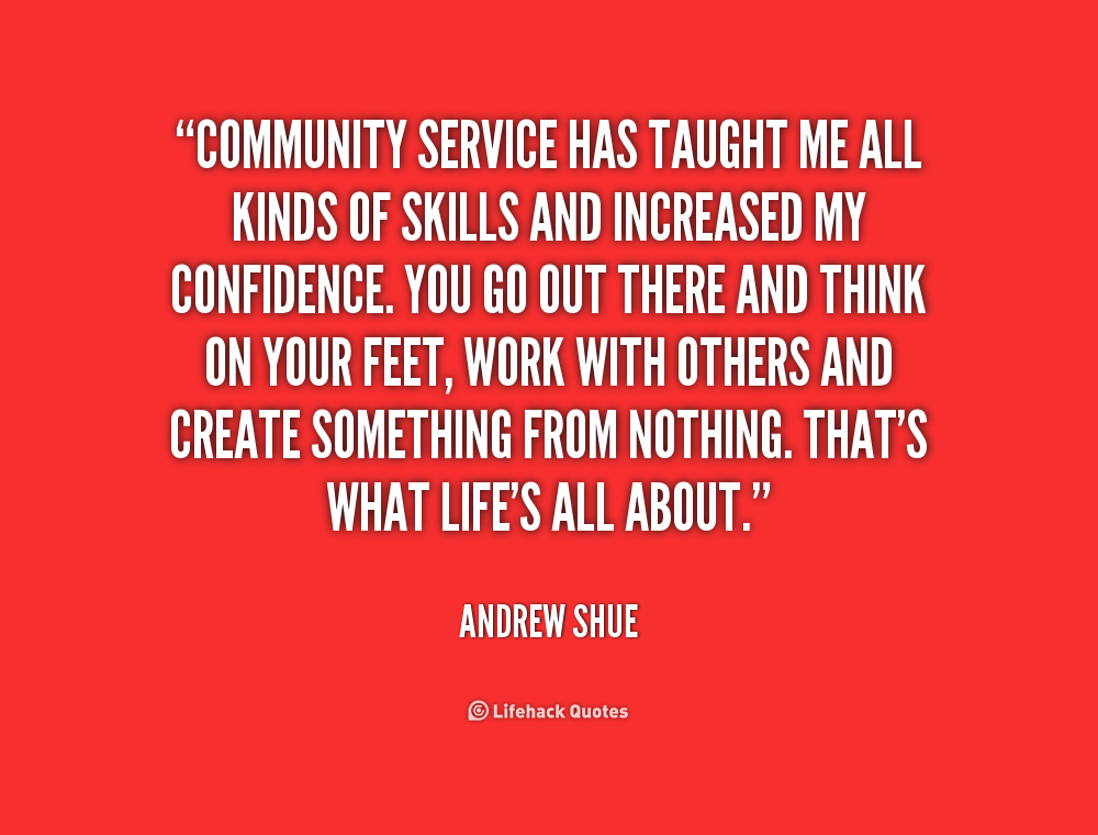 Great Quotes About Community Service Quotesgram
