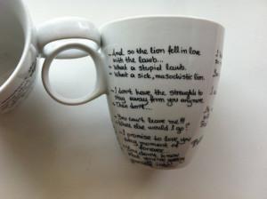 Twilight Mug (Edward - Bella - Jacob quotes) and Gift Box