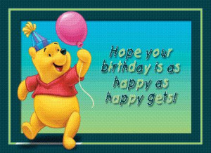 Winnie The Pooh Quotes Happy Birthday