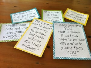 ... and using quotes in the classroom. I LOVE doing this with my kids