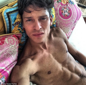 Shockingly thin: Joey Essex displayed his incredibly skinny physique ...