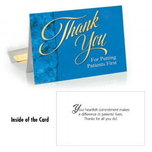 Home Thank You For Putting Patients First Greeting Card