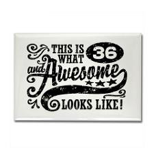 36th Birthday Rectangle Magnet for