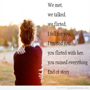 Quotes About Breakups Relationships ~ life Crushed trust feelings ...
