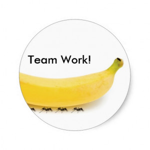 Team Work Banana & Ants - Funny Stickers