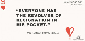 Casino Royale #BondDay #Quotes by Ian Fleming