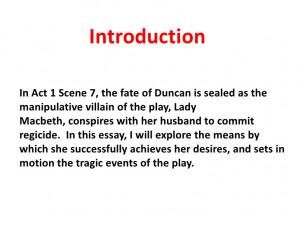 Macbeth ambition essay
