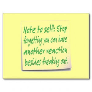 Funny Note Self Postcard