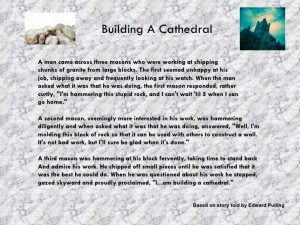 Building A Cathedral (1slide)