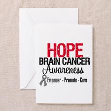 Hope Brain Cancer Greeting Cards (Pk of 10) for