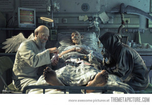 Funny photos funny angel vs death