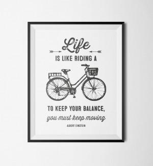 ... Printable Wall Art / Printable Wall Art – Motivational Bicycle Quote