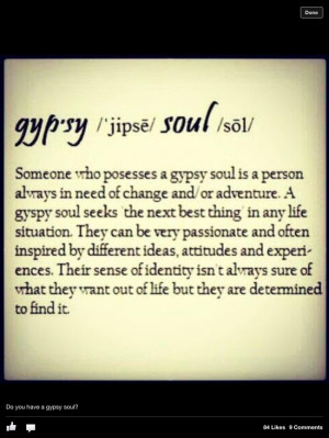 ... being a gypsy is a lifestyle choice rather than the fact that gypsies
