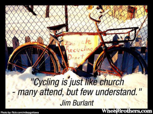 Cycling is just like church – many attend, but few understand ...