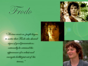 Description: 1024 x 768: Frodo wallpaper with quote