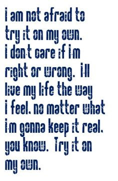 Whitney Houston - Try It On My Own - song lyrics,music lyrics, song ...