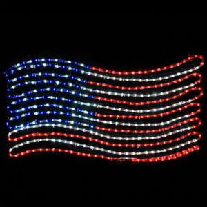 LED Rope Light Patriotic Flag