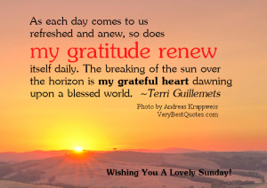 ... Sunday Good Morning quotes, Gratitude quotes, beautiful new day quotes