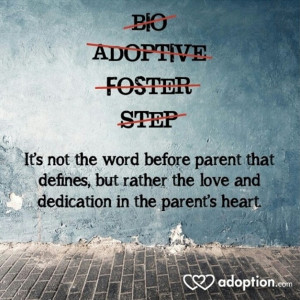 foster care adoption quote