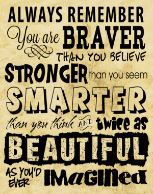 ... You are Brave, Strong, Smart and Beautiful - Positive Sayings Art