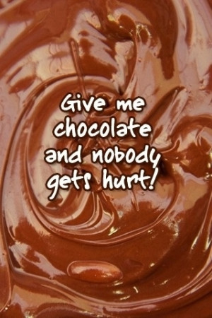 take my chocolate very seriously, but I did run across some funny ...