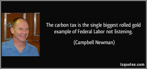 ... rolled gold example of Federal Labor not listening. - Campbell Newman