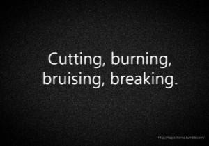 self harm self injury cutting burning sucks