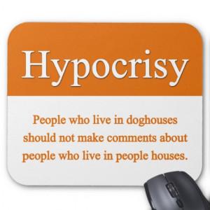 Hypocrisy Mousepad From Zazzle