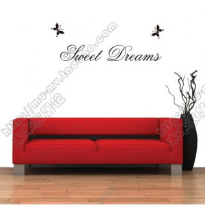 SWEET-DREAMS-Vinyl-wall-quotes-stickers-sayings-home-art-decor-decal ...