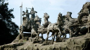 Chariot Of Krishna And Arjuna Pictures-Photos-Images of Bronze Chariot ...
