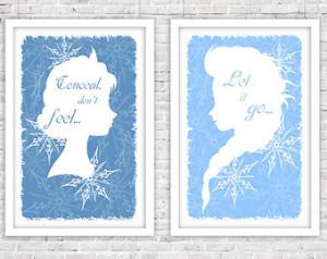 Disney's Frozen Let it Go Quote Original Digital Print (Set of Two ...