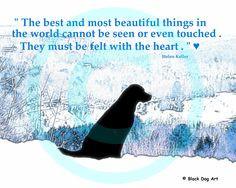 Labrador Retriever Dog Digital Art Print With Quote