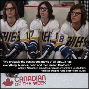 """first met the Hanson Brothers in the 1977 hockey movie, """"Slap Shot ..."""