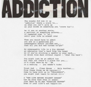 Poems For Addiction Recovery Quotes