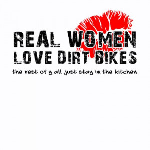Real Women Love Dirt Bikes Funny Dirt Bike Motocro zazzle_shirt