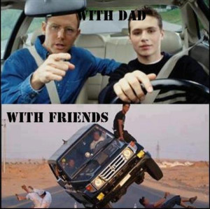 Driving with and without dad