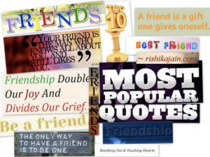 Top 10 Friendship Quotes, Friend Quotes Most Popular, Inspirational ...