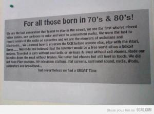 70s & 80s' Kids RULE!