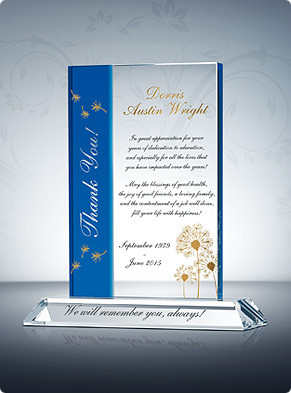 ... Gift Plaques > Teacher Retirement Gifts > Thank you Teacher Retirement