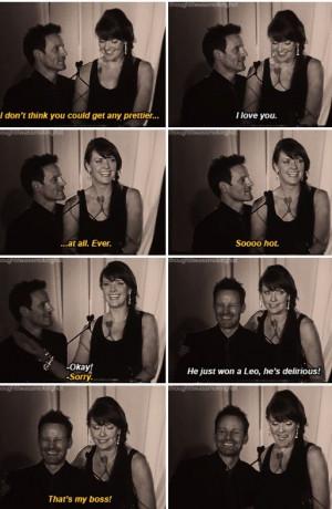 Ryan Robbins and Amanda Tapping