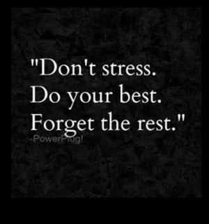 Don't Stress...
