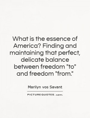 What is the essence of America? Finding and maintaining that perfect ...