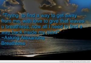 Asking Alexandria Lyric Quote