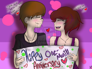 Happy One-Month Anniversary::. by Scoric