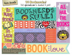 Download free, printable bookmarks from Epic Reads!