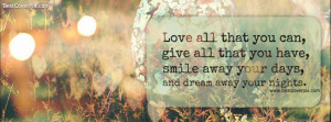 Love Lofe Quotes Facebook Profile Cover Photo