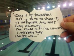 Swimming quote