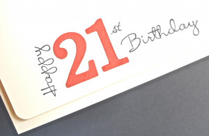 21st Birthday Greetings