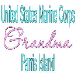 usmc_grandma_parris_island_greeting_cards_pk_of_1.jpg?height=250&width ...